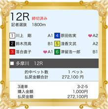 6/12 福岡J・アンクラス杯 的中舟券