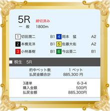 11/29 第23回ブルースターカップ 的中舟券