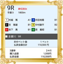 5/10 日本モーターボート選手会会長賞 的中舟券